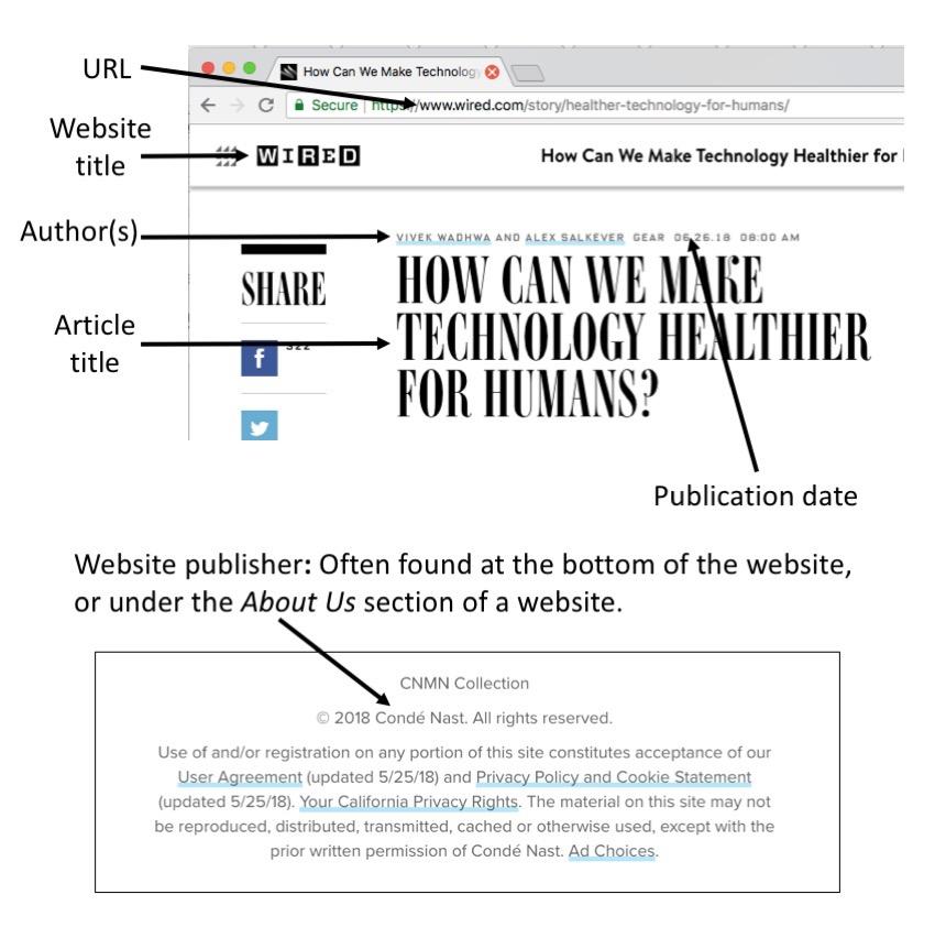 Como Citar Paginas Web APA