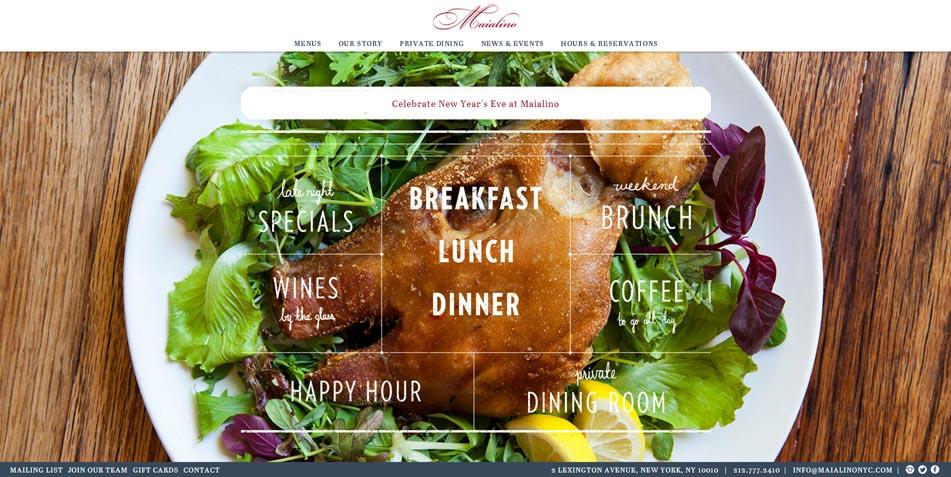 diseño web maialino restaurante